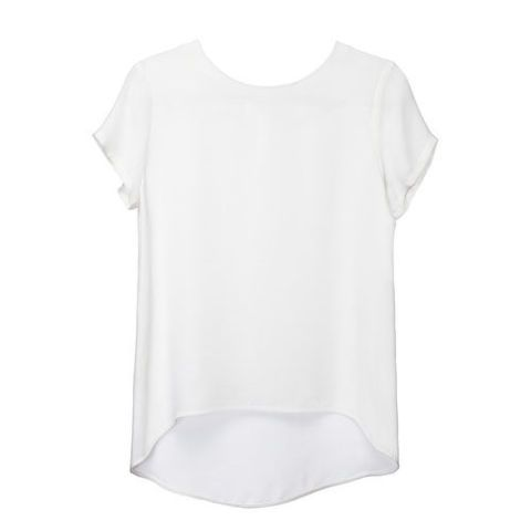cuyana short sleeve white silk t-shirt