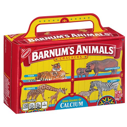 nabisco barnum's animals crackers red box