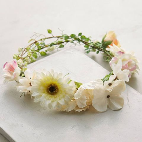 anthropologie solstice flower crown