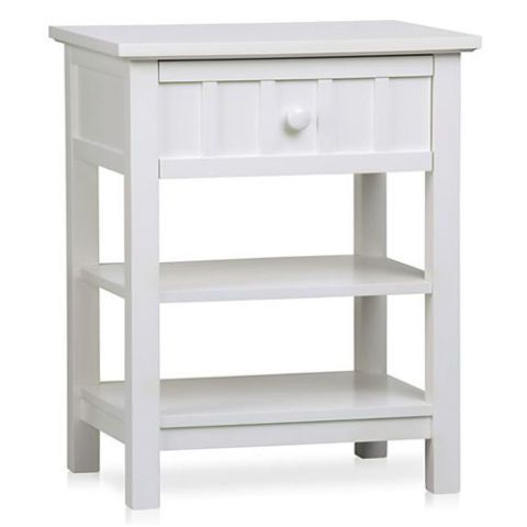 Crate & Barrel Brighton White Nightstand