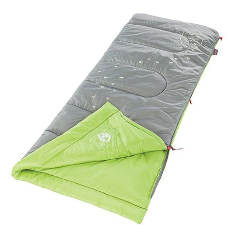 coleman youth 45 degree glow in the dark sleeping bag gray and green