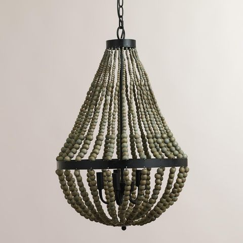 World Market Small Wood Bead Chandelier