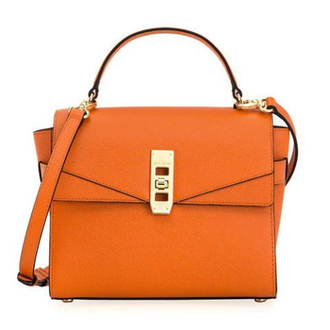 henri bendel mini uptown bag in orange