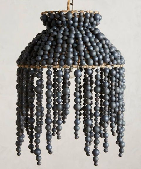 Anthropologie Hand-Beaded Vara Chandelier