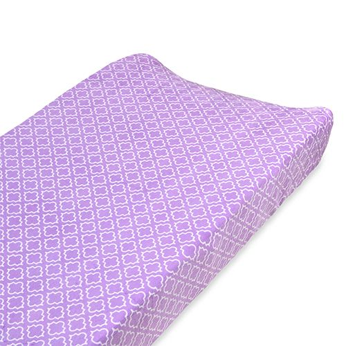carters changing pad cover in lilac dream