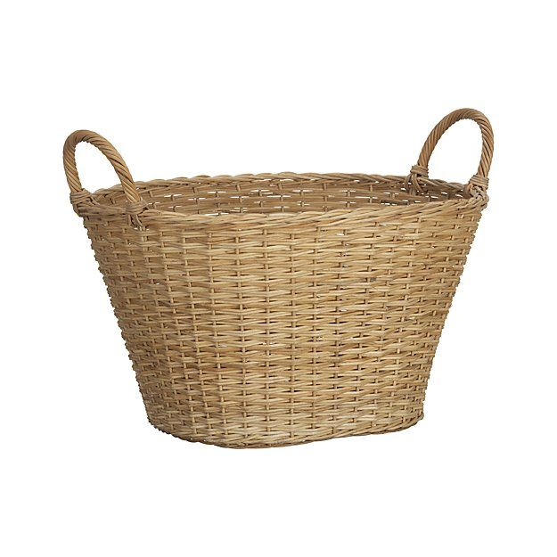 Crate & Barrel Wicker Laundry Basket