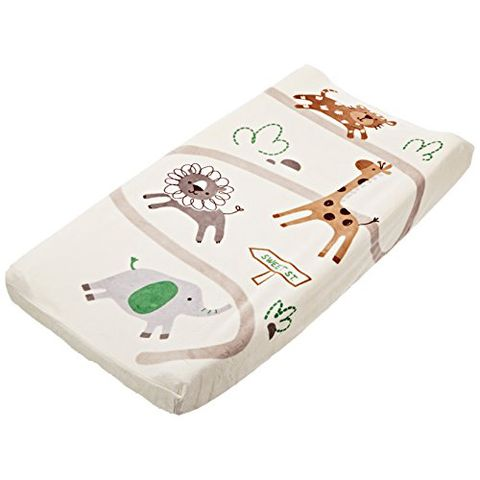 summer infant ultra plush changing pad cover safari animal print