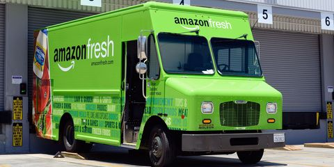 amazon fresh meal delivery truck