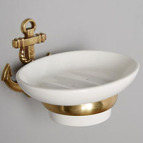 Attirant Anthropologie Brass Anchor Soap Dish