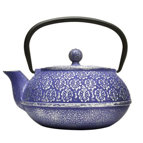 blue steel teapot