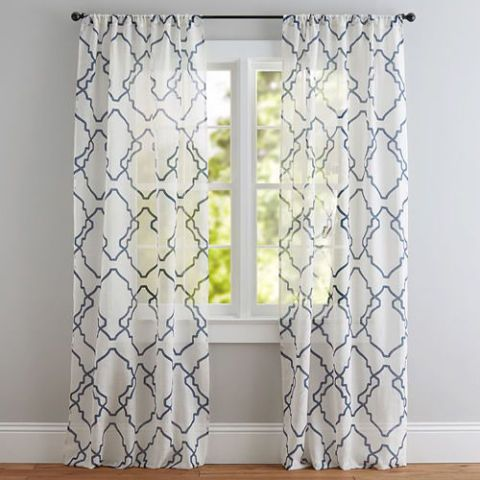 Pottery Barn Trisha Geo Sheer Drape
