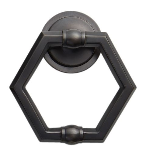 Rejuvenation Hexagon Door Knocker
