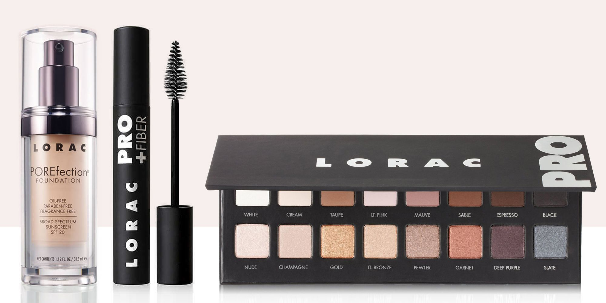 Hair3 and Beauty standout products from lorac fotos