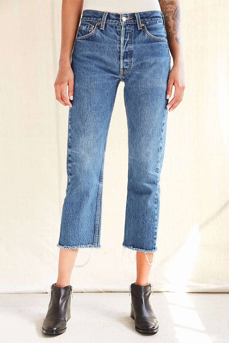 urban renewal recycled levis frayed jeans