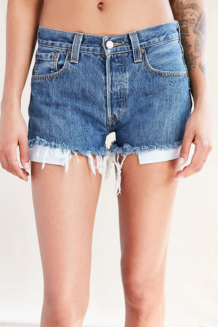 urban renewal levis denim cutoff shorts
