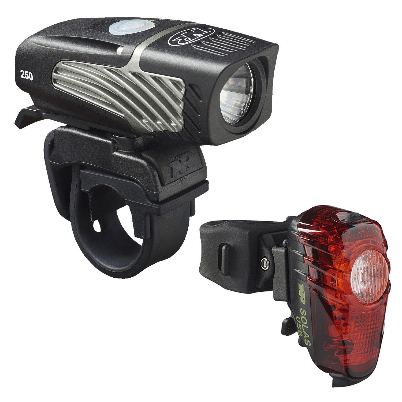 NiteRider Lumina Micro 250 USB LED Headlight and Solas 30 Lumen USB Tail Light