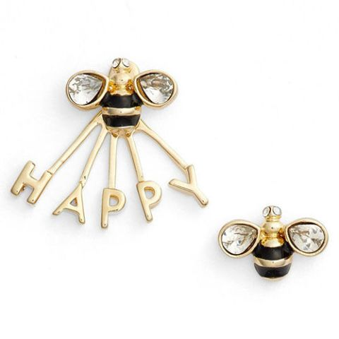 kate spade bee happy ear jacket and stud