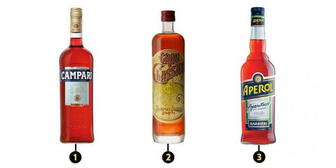 Campari, Gran Classico, and Aperol