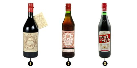 Carpano, Dolin, and Pune e Mes Vermouth