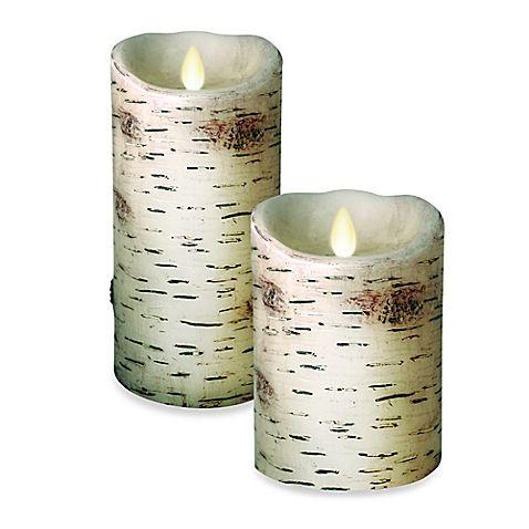 Luminara Birch Pillar Candle