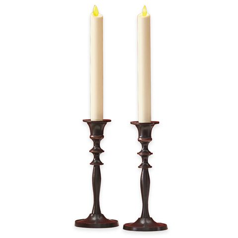 Luminara Real-Flame Effect 8-Inch Battery Operated Taper Candles