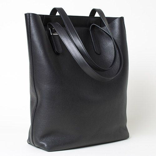 0407c9445c 12 Best Black Leather Tote Bags in 2018 - Black Leather Totes and Carryalls