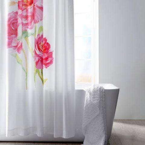 Garnet Hill Watercolor Floral Sateen Shower Curtain