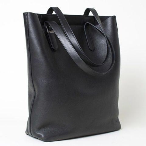 Everlane Petra Black Leather Tote Bag