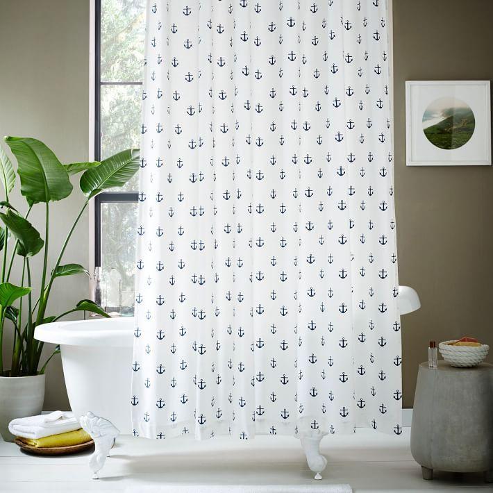 West Elm Anchor Shower Curtain