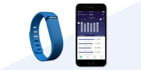 FitBit sleep tracking app