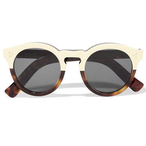 illesteva half tortoise round leonard sunglasses