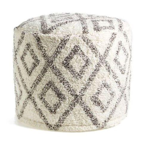 Levtex Diamond Pattern Chenille Pouf