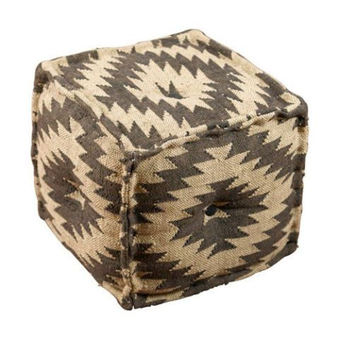 One Kings Lane Gray Karla Pouf