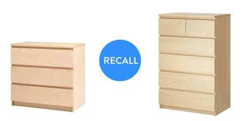 Ikea recalls Malm dressers