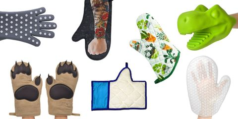 quirky oven mitts