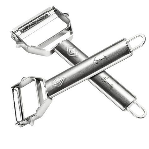 Basily Premium Julienne and Serrated Stainless Steel Peeler