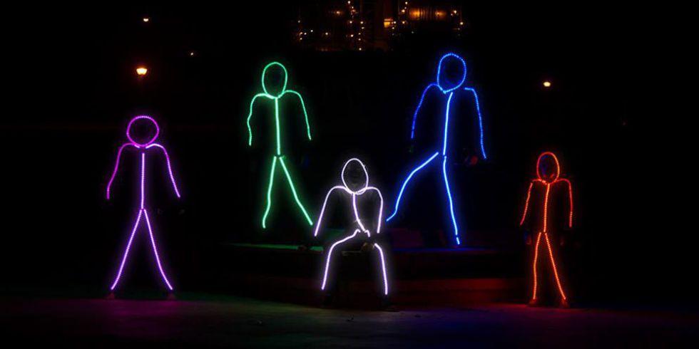 LED Stickman Group Halloween Costumes