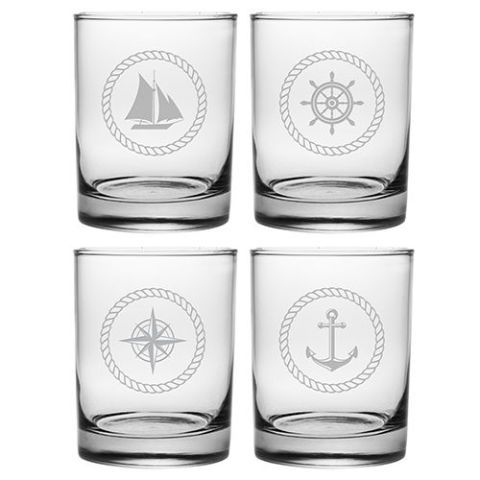 Westport 14 Oz. 4 Piece Rocks Glass Set by Breakwater Bay
