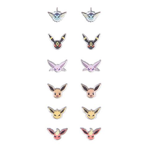 "<p><strong><em>$11</em></strong> <a href=""http://www.hottopic.com/product/pokemon-eevee-evolutions-earrings-6-pair/10487414.html?cgid=pop-culture-shop-by-license-pokemon"" target=""_blank"" class=""slide-buy--button"">BUY NOW</a></p><p>This pack comes with six pairs of earrings showing five of Eevee's eight eeveelutions. It includes Jolteon, Flareon, Umbreon, Vaporeon, and Espeon. </p>"