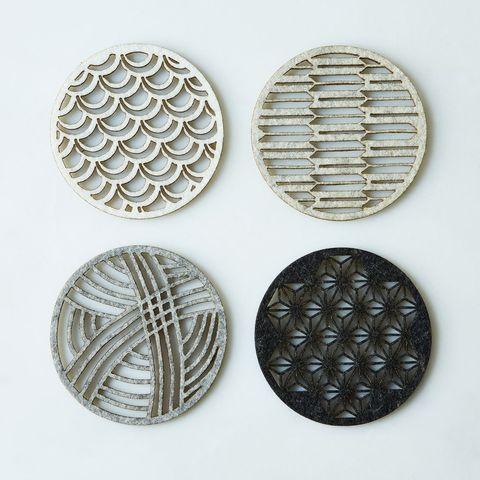 Molly M Designs Geometric Felt Coasters