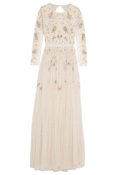 needle and thread floral beaded tulle gown