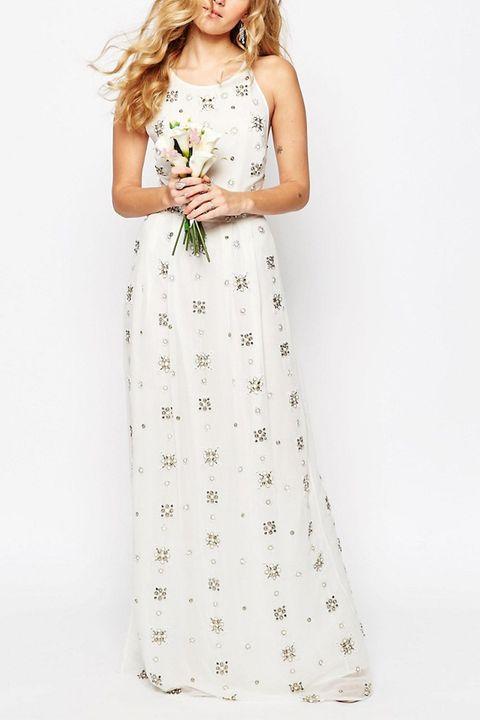 asos bridal embellished maxi dress