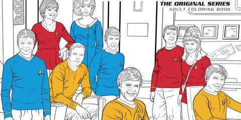 Star Trek adult coloring book