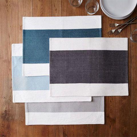 Center Stripe Woven Placemat Set
