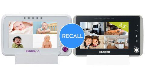 Lorex baby monitor recall