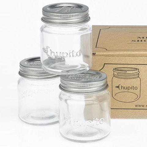 "Smiths Mini Mason Jar ""Chupito"" Shot Glasses with Lids"