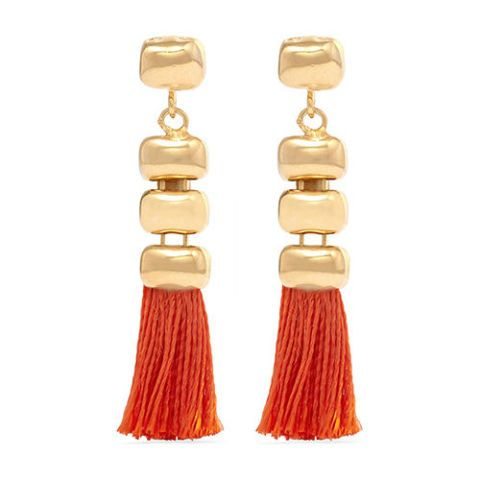 Rosantica Atena Tasseled Gold-Tone Earrings
