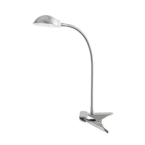 Studio 3B Brushed Steel 24-LED Clip Lamp