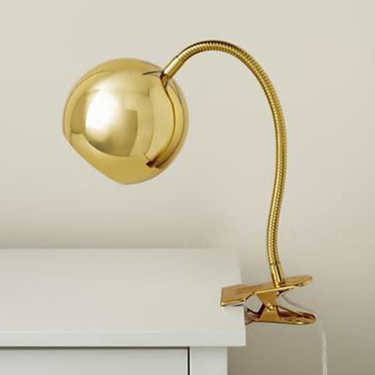 Beautiful Land Of Nod Gold Modern Clip Lamp