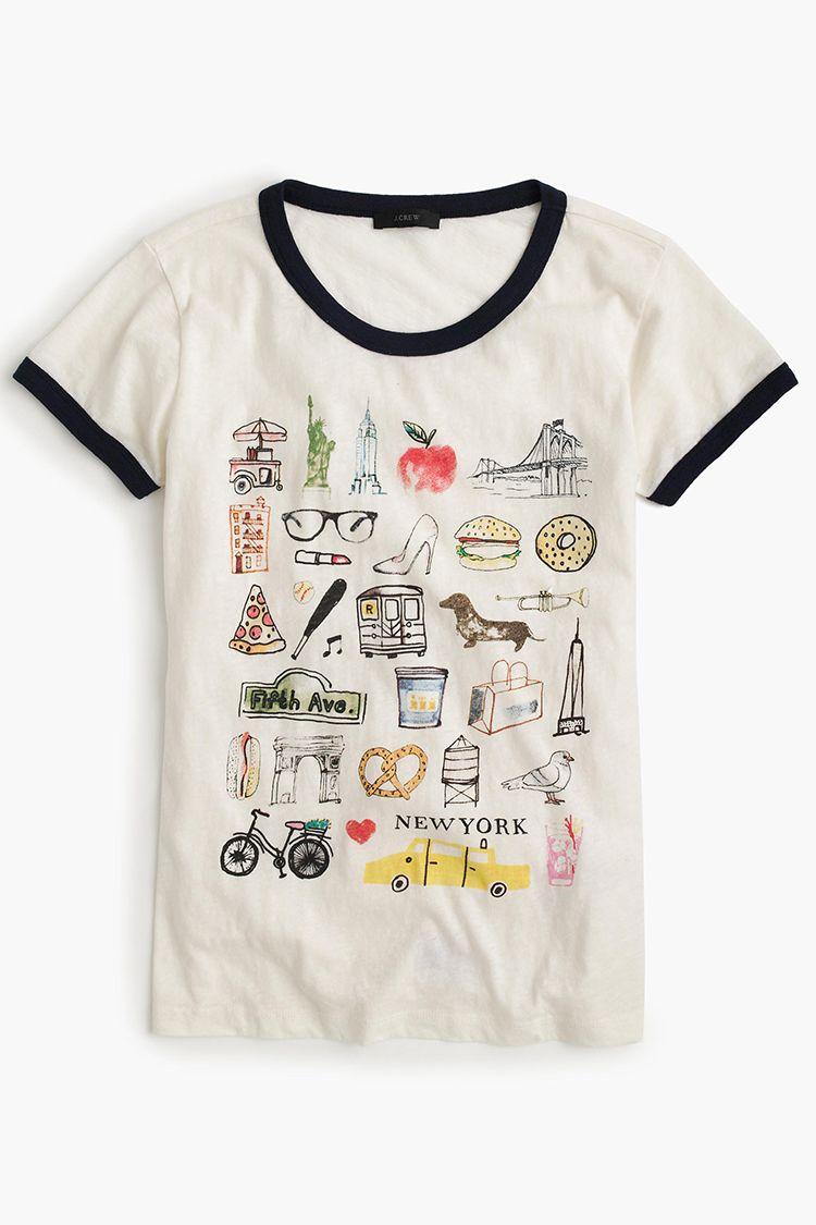 j. crew new york graphic tee shirt